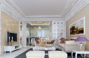 别墅现代家装客厅电视背景墙装修效果图