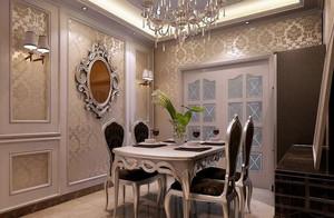 小户型精致简欧风格餐厅背景墙装修效果图