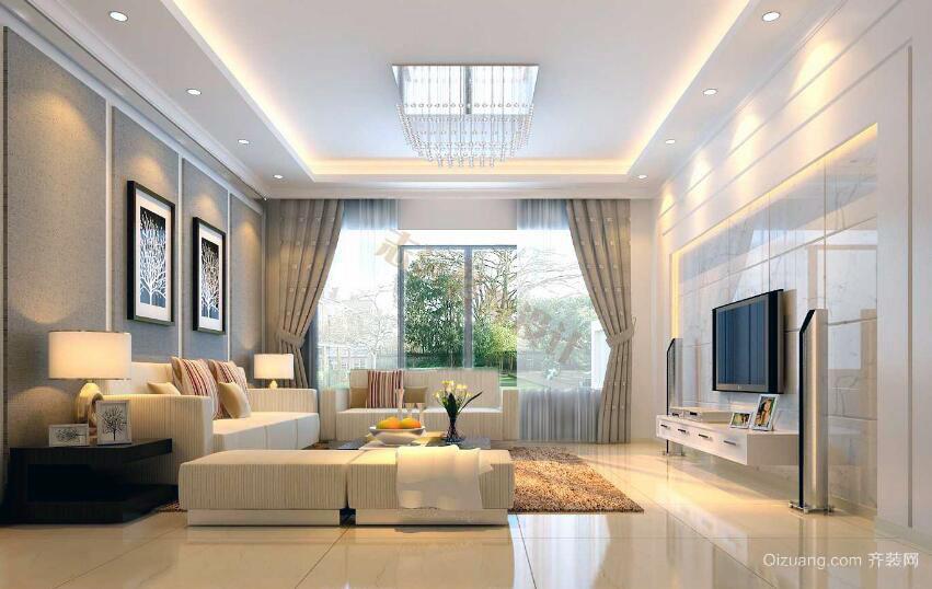100平米舒心的都市客厅装修效果图欣赏