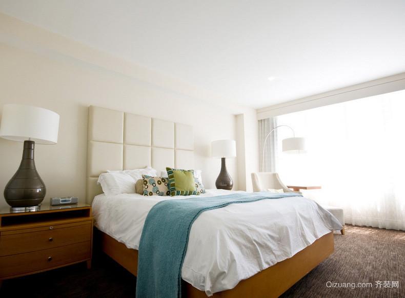 简约时尚暖色系卧室是装修效果图
