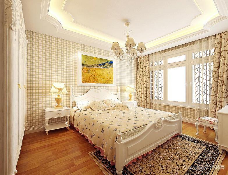 110平现代简欧风格卧室装修效果图