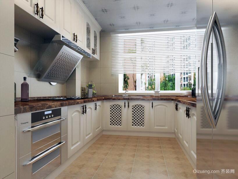 设计独特的大户型欧式厨房装修效果图