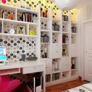 110平也能有的时尚精致书房装修效果图