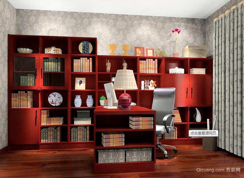 2016年全新款复古中式书房装修效果图