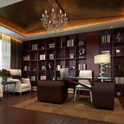 中式豪华奢侈级别的书房装修效果图