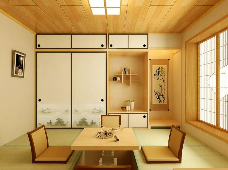 日式简约自然榻榻米装修效果图