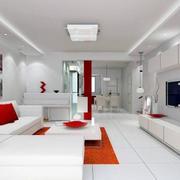 别墅型时尚简约客厅装修效果图