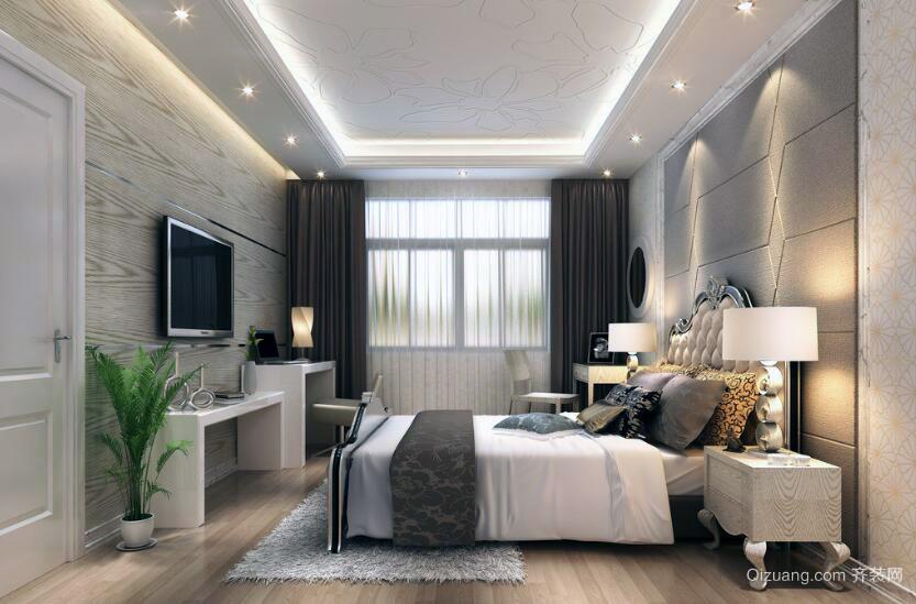 现代轻快小户型卧室装修效果图实例