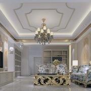 120平米精致豪华欧式客厅装修效果图欣赏