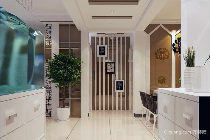 都市精致的别墅型欧式玄关装修效果图鉴赏