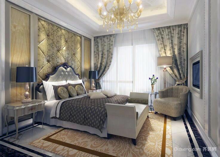 唯美舒适的大户型欧式卧室装修效果图