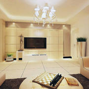 现代欧式大户型家庭电视背景墙装修效果图片