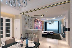 欧式风格别墅型精致客厅隔断装修效果图
