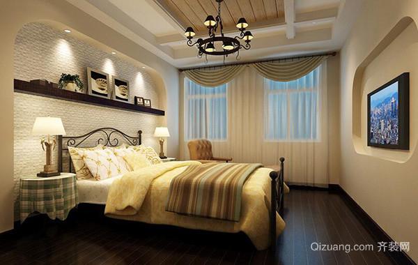 2016精美的大户型简欧风格卧室吊顶装修效果图