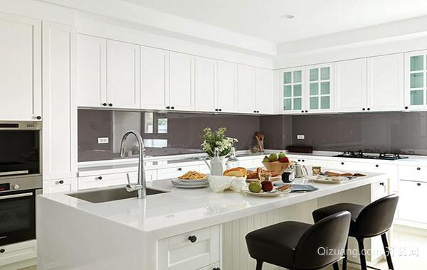 2016大户型欧式开放式厨房吊顶装修效果图