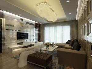 别墅和复式楼现代时尚客厅背景墙装修效果图