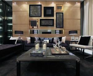 别墅现代主义风格客厅吊顶装修效果图实例