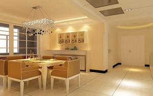 100平米大户型现代简约餐厅背景墙装修效果图