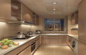 现代别墅型欧式家庭厨房吊顶装修效果图