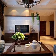 客厅电视背景墙装修图