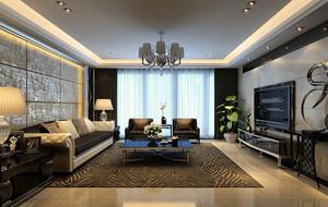 100平米后现代装修风格客厅背景墙装修效果图