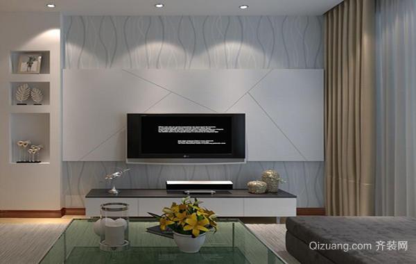 别墅型欧式风格客厅电视背景墙装修效果图