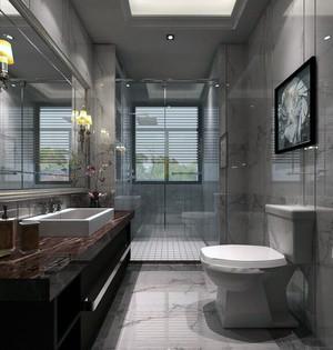 现代欧式别墅家庭卫生间吊顶装修效果图