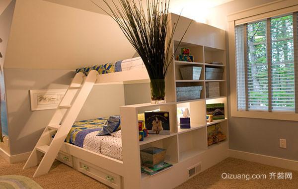 现代唯美时尚双层床儿童房装修效果图