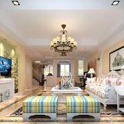 现代精致的别墅型欧式客厅装修效果图