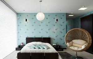 别墅大户型现代简约精致卧室吊灯装修效果图