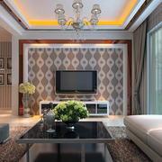欧式小户型客厅电视背景墙装修效果图鉴赏