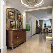 100平米现代都市室内玄关装修效果图实例