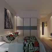 2016小户型现代欧式风格卧室设计效果图