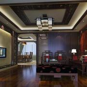90平米精致的大户型中式客厅装修效果图