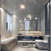 唯美的大户型欧式卫生间装修效果图欣赏