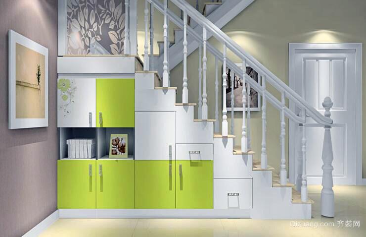 造型精致的别墅型室内楼梯设计效果图欣赏