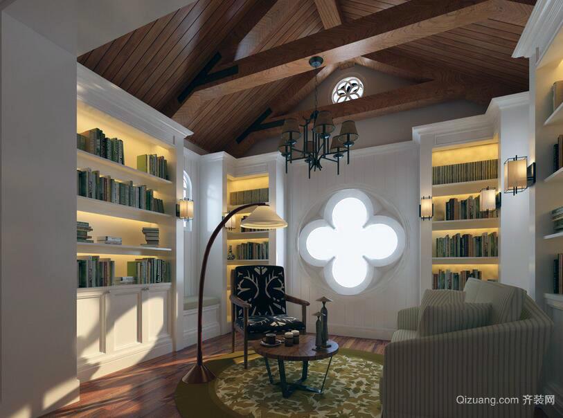80平米精致的室内书房装修效果图实例
