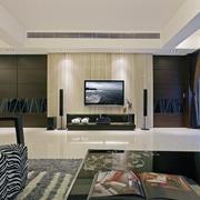 现代精致的大户型家庭室内背景墙装修效果图