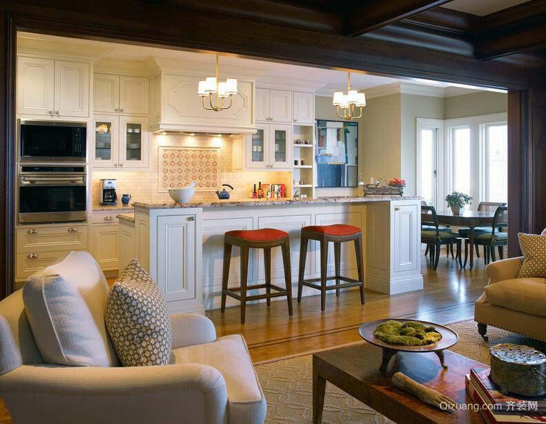 120平米欧式开放式厨房装修效果图鉴赏
