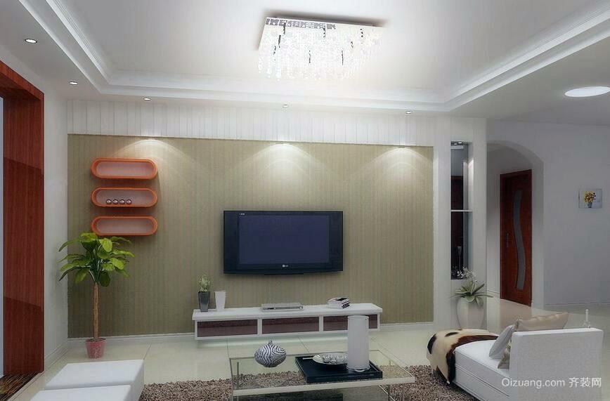 2016独特的现代客厅电视背景墙装修效果图