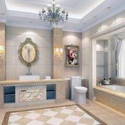 现代欧式自建别墅洗手间装修效果图实例