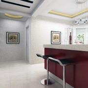 100平米房屋简欧风格室内吧台装修效果图