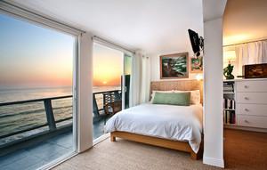 别墅型自然精致简约卧室装修效果图