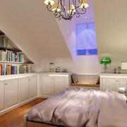 2016年经典复式小楼卧室吊灯装修效果图