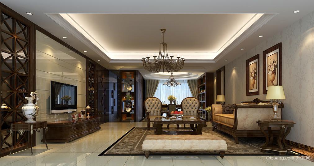 别墅欧式风格客厅装修效果图