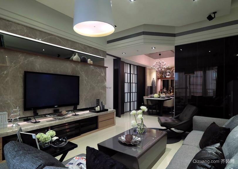 现代东南亚风格客厅装修效果图