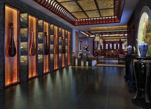 中式风格别墅客厅吊顶装修效果图大全