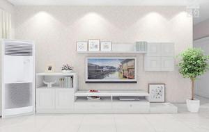 2016别墅型欧式客厅电视柜背景墙装修效果图