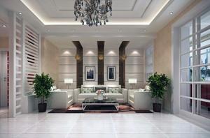 2016精美的别墅客厅沙发背景墙装修效果图欣赏