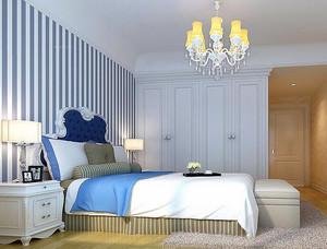 别墅地中海风格卧室背景墙装修效果图欣赏
